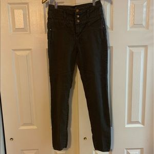 Refuge High-Waisted Gray Stretch Skinny Jeans 10
